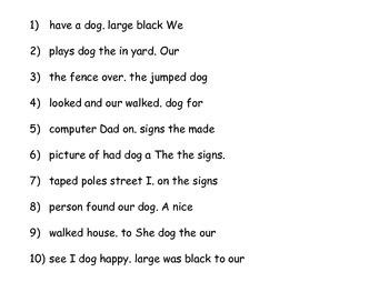 Sentence Mix Up!