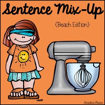Sentence Mix Up - Beach Day