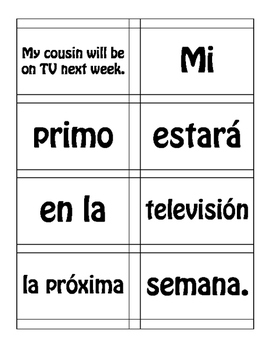 Spanish Future and Conditional Sentence Mixer