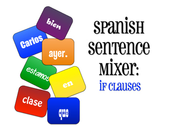 Spanish Past Subjunctive If Clause Sentence Mixer