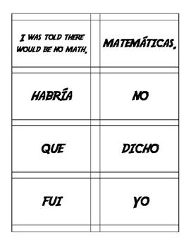 Spanish Passive Voice Sentence Mixer