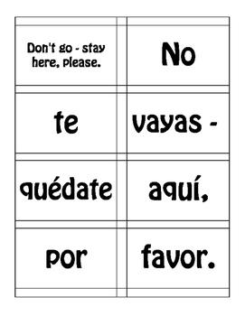 Spanish Commands Sentence Mixer