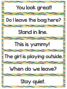 Sentence Types Activities and Centers: Asking, Telling, Commanding, Exclaiming