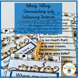 Sentence Types Activities and Centers: Asking, Telling, Co