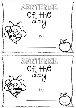 Sentence Of The Day Booklet - Editable