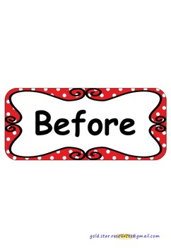 Sentence Openers on Red Polka Dots for Display