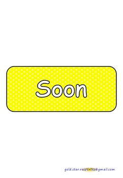 Sentence Openers on Yellow Polka Dots for Display