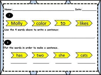 Sentence Organization