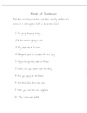 Sentence Packet/ELA