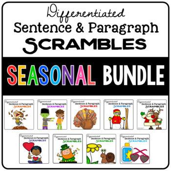 Sentence & Paragraph Scrambles (Seasonal BUNDLE)