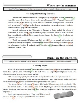 Sentence-Paragraph WarmUps
