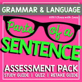 Sentence Parts Assessment Pack