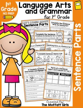 Sentence Parts (Subject and Predicate) NO PREP Packet