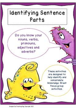 Sentence Parts activity