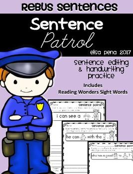 Sentence Patrol: Rebus Sentences
