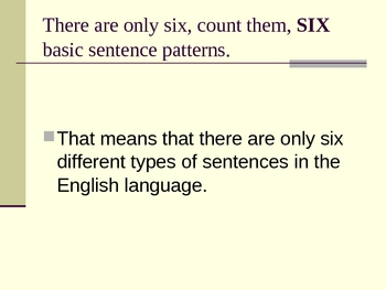 Sentence Pattern Power Point Lecture
