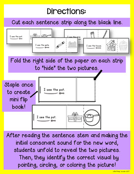 Sentence Pattern and Picture Reading for ESL and Emergent Readers