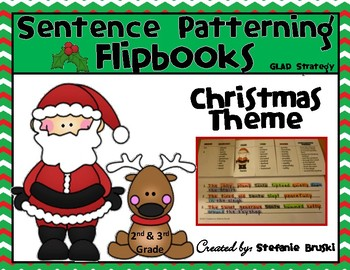 Sentence Patterning Flipbooks Christmas Theme