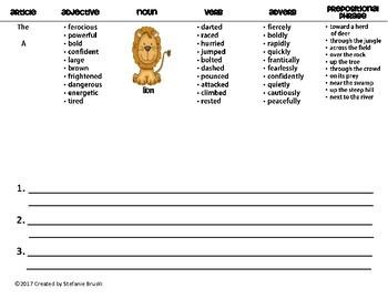 Sentence Patterning Flipbooks Jungle Animals Theme