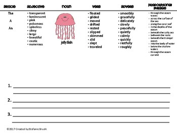 Sentence Patterning Flipbooks Ocean Animals Theme