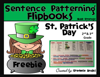 Sentence Patterning Flipbooks St. Patrick's Day FREEBIE!!!