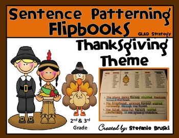 Sentence Patterning Flipbooks Thanksgiving Theme