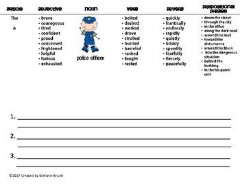 Sentence Patterning Flipbooks Community Workers Theme
