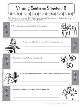 Sentence Patterns 1 (CCSS L.6.3a)
