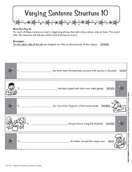 Sentence Patterns 2 (CCSS L.6.3a)