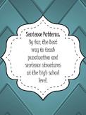 Sentence Patterns - Compound/Complex Sentence & Punctuation Guide