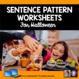 Sentence Patterns for Halloween Worksheets for Distance Le