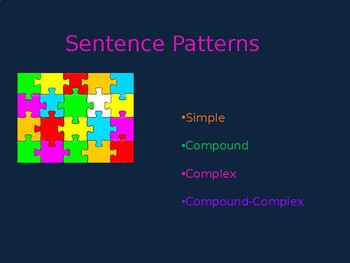 Sentence Patterns Slideshow