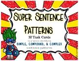 Sentence Patterns Task Cards - Simple, Compound, Complex