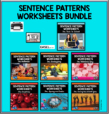 Sentence Patterns Worksheets Bundle for Distance Learning