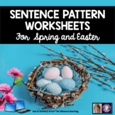 Sentence Patterns Worksheets for Spring and Easter | Dista