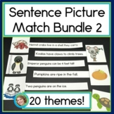 Sentence Picture Match Bundle #2 : Reading Centers for 20