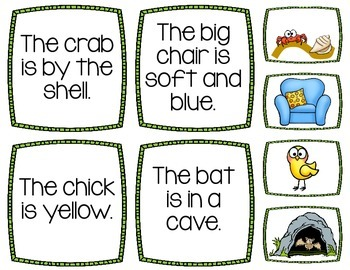 Sentence Picture Matching Cards- Help Improve Comprehension