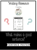 What Make A Sentence Poster Chart