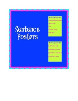 Sentence Posters