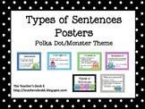 Sentence Posters Polka Dot Monster Theme