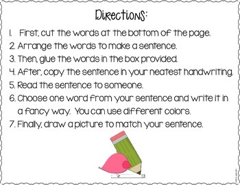 Sentence Power: Differentiated Sentence-Building Activities & Word Power