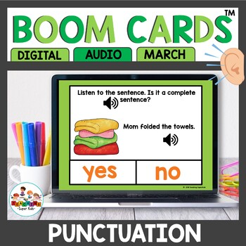 Sentence Practice Boom Cards March Themed