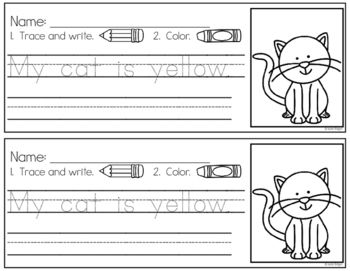 Sentence Practice Pages (Short A)