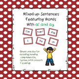 Sentence Practice With ai and ay Words
