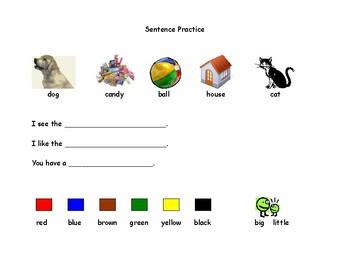 Sentence Practice for Beginning Writers