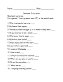 Sentence Punctuation (Periods and Question Marks)