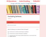 Sentence Punctuation Quiz for Google Classroom (Auto Gradi