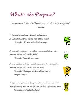 Sentence Purpose Poster