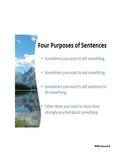Sentence Purposes Notes