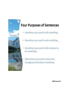 Sentence Purposes Notes